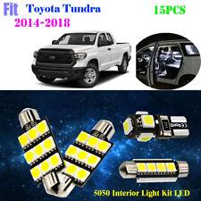 15Pcs 5050 LED Xenon White 6K Interior Light Kit Fit For 2014-2018 Toyota Tundra