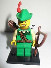 Légo 8683 Minifig Figurine Série 1 Forestman Robin des Bois + Socle