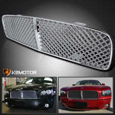 2006-2010 Dodge Charger Chrome ABS Mesh Front Upper Bumper Grill Grille