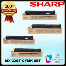 New & Original Sharp MX-23GTBA MX-23GTCA MX-23GTMA MX-23GTYA CYMK  Toner Set