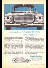 "1963 STUDEBAKER LARK AVANTI AD A2 CANVAS PRINT POSTER FRAMED 23.4""x16.5"""