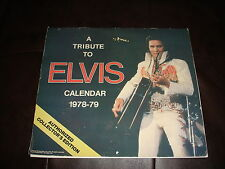ELVIS PRESLEY CALENDAR 1978-79 A Tribute Authorized Collector's Edition