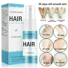 100% Natural Permanent Hair Removal Spray Stop Hair Growth Inhibitor Remover UK