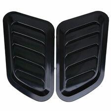 2PCS Car Side Decorative Air Flow Intake Scoop Turbo Bonnet Vent Cover Hood