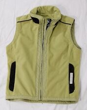 Descente women's fleece vest green size 8 full zipper