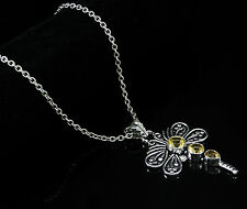 Indian Fashionable Dragonfly Silver Plated Jewelry CITRINE STONE Women Pendant