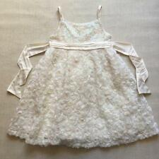 Monsoon Beautiful Ivory Bridesmaid Roses Sequin Wedding Party Dress Age 5-6