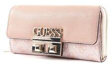 GUESS Logo Luxe SLG Large Clutch Geldbörse Blush Rosa Weiß Neu