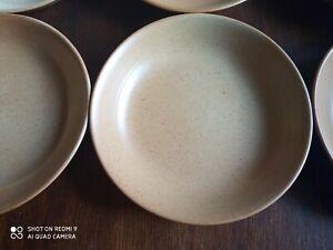 GRES  VILLAGE    6  assiettes  creuses   19  cm    VINTAGE