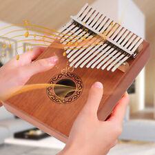 More details for 17-key kalimba thumb piano toy wooden mahogany finger musical instrument kit uk