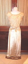 VALENTINO Gown Silk Velvet & Beaded Full Length Maxi Size 4 US
