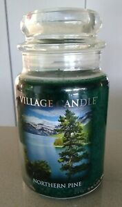 Village Candle Northern Pine Large Jar Candle 26 oz Holiday 2 wick NEW