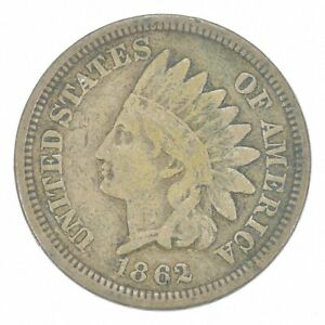Civil War Era - 1862 Copper Nickel Indian Head Cent - Historic *656