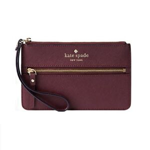 Kate Spade MIKAS POND BEE MULLED WINE WALLET Purse Wristlet Accessories NEW