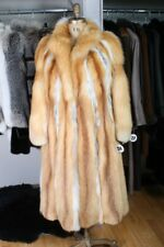 Size 8 Awesome Red Fox Fur Women Full Length Coat [JY214]