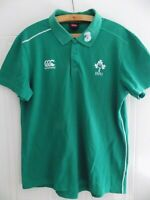 Ireland Rugby Union Shirt Retro Jersey Green Top Canterbury Polo IRFU Mens Size