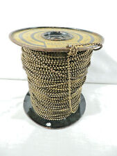 Vintage Hardware Store Spool of Brass Bead Chain