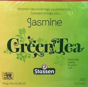 Jasmine Green Tea Stassen Pure 100 Tea Bags #1 Quality- New In Box