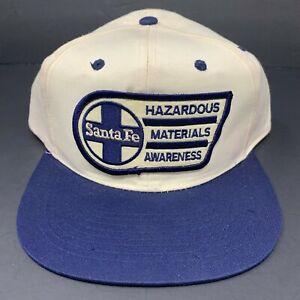 Santa Fe Railroad Hazardous Materials Awareness Patch Snapback Hat OSFA EUC