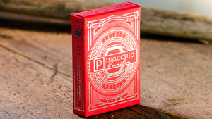 Luxury Playing Cards Pinocchio Vermilion Playing Cards (Red) by Elettra Deganell
