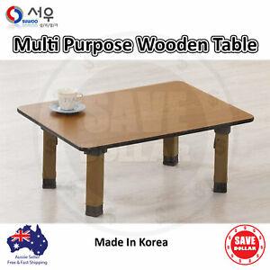 Multi Purpose Foldable Leg Wooden Pattern Coffee Tea Study Table Korean Made