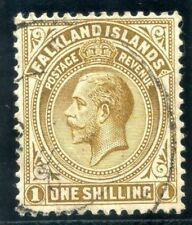 Falkland Islands 1920 KGV1s brown-deep brown, thick grey paper, VF used. SG 65b.