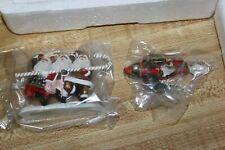 Hawthorne Miniatures Santa on Rocket + Dancing Santas Ornament 78291 Christmas
