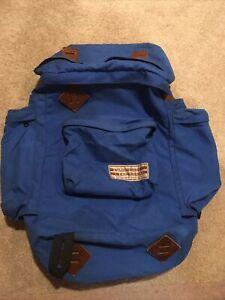 Vintage Wilderness Experience Blue Hiking Backpack Internal Frame