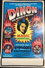 "1980 Ed Harris DINON LITHO TRAVEL POSTER MAGIC SEANCE MASTER MAGICIAN VTG 22x14"""