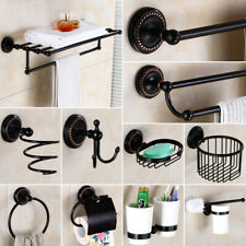 Oil Rubbed Bronze Bathroom Accessories Towel Shelf Towel Bar Bath Hardware Set