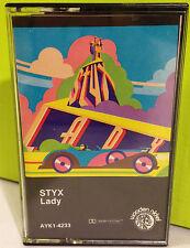 Styx / Lady cassette 1980 reissue Wooden Nickel excellent Classic Rock
