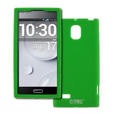 for LG Optimus LTE 2 II Soft Flexible Silicone Skin Case Cover Protector Green