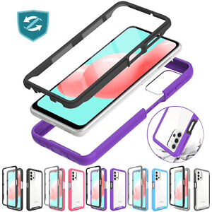 For Samsung Galaxy A32 5G Case Clear Hybrid Full Cover Built-in Screen Protector