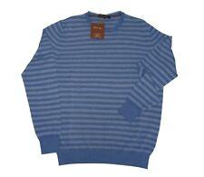 Loro Piana maglione girocollo Pique stripe azzurro Size M - NUOVO