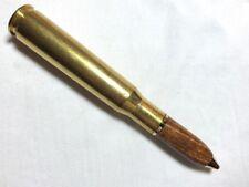 50 Cal Machine Gun Bullet Pen in unknown wood. Handmade.