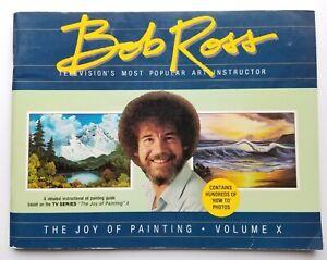 Bob Ross The Joy of Painting Book Volume X Art Instruction 1987
