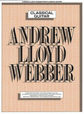 Andrew Lloyd Webber Classical Guitar Learn to Play Stage Musicals Music Book
