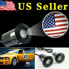 2 PCS 5Th Gen Car Laser Projector Logo Ghost Shadow Door Step LED Light USA Flag