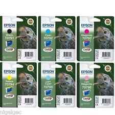 Epson Stylus Photo 1400 T0791 a T0796 Set 6 Con Dibujo De Búho Tintas Stylus Photo 1500w