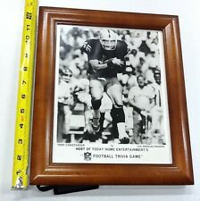 Nice Vintage Glass Framed Todd Christensen Oakland LA Raiders Press Photo Rare