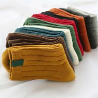 Winter Autumn Thick Solid Color Warm Christmas Cotton Stocking Socks Hosiery