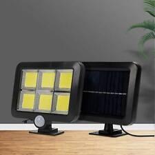 120LED Solar Powered PIR Motion Sensor Garden Wall Lights Security Outdoor UK