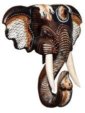 NEU Schöne 40 cm Wand Maske Elefant Holz Bali Maske48.40