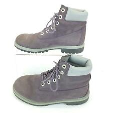 Timberland Waterproof Ankle Boots Girls 5 Purple Lavender Nubuck Leather 3195R