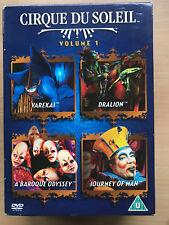 Cirque Du Soleil Vol.1 Vareka Dralion Baroque Odyssey Journey Of Man DVD Coffret