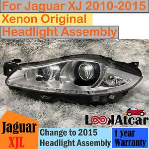 Jaguar XJ XJL Xenon Headlight Assembly Without Orange Light Left 2010-2015