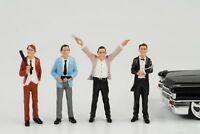 Gangster Mafia Räuber 4 Figuren Set Figur 1:24 Figures American Diorama
