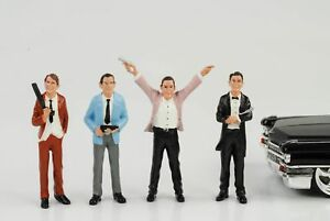 Gangster Mafia Räuber 4 Figures Set Figurine 1:24 Figurines American Diorama