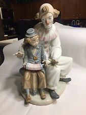 Lladro NAO ZAPHIR Lesson of Music #701 Clown Boy Accordion Mint Condition