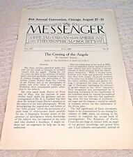 New listing July 1927 American Theosophical Society - The Messenger 24 Page Newsletter